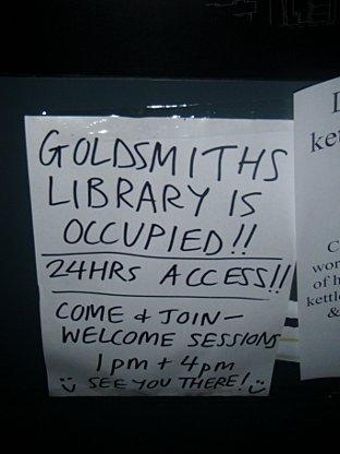 students occupy Goldsmiths library over tuition fees