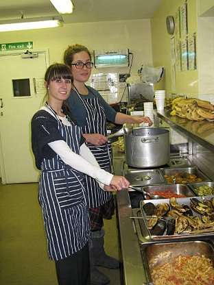 News Shopper: Kelly Smale and Amelie Bochm serve the food