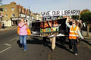 Library closure plans have led to previous protests