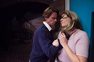 Katherine Dow Blyton and Simon Chadwick as Deirdre and Ken Barlow in Corrie!