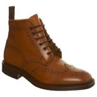 News Shopper: 'Loake Lester Tan Brogue Boots' , Burton