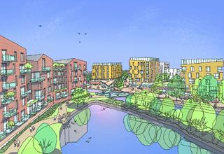 An artist impression of the Millpond site