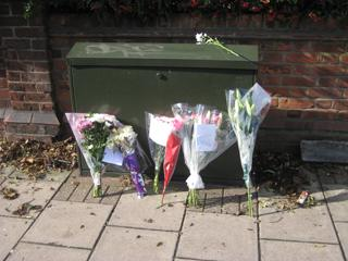Floral tributes to Sam have been left at the scene