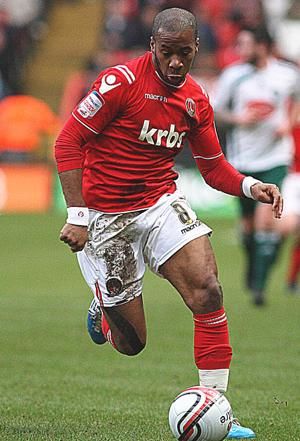 Therry Racon hopes to remain at Charlton Athletic next season Pic: Edmund Boyden