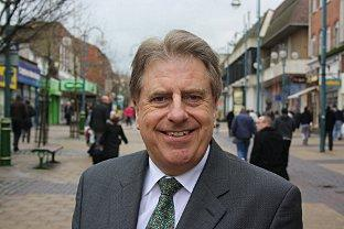 News Shopper: MP David Evennett in the centre of Bexleyheath - good for shopping and eating out