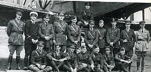 Officers of The Royal Flying Corps who developed wireless communication (Picture from Biggin on the Bump by Bob Ogley)