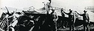 The wreckage of the Gotha bomber at Frinsted shot down in Biggin Hill's first kill (Picture from Biggin on the Bump by Bob Ogley)