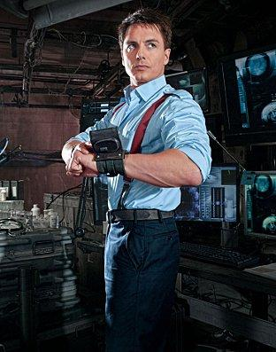 John Barrowman returns as sexy time traveller Captain Jack Harkness in Torchwood: Miracle Day on BBC One, tomorrow at 9pm. Photo: PA/BBC
