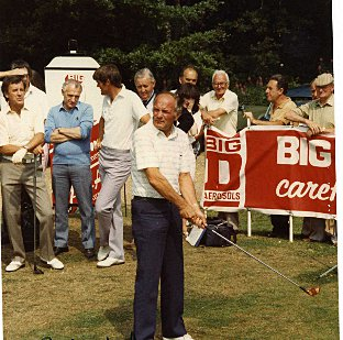 Henry Cooper at a charity golf tournament