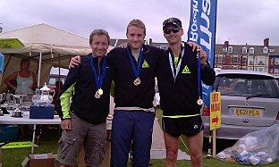 Ian Hailes (left), Jason Cherriman and Steve Nimmo