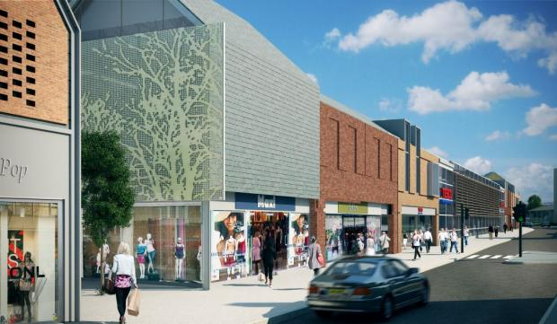 News Shopper: An artists' impression of Tesco's development in Dartford