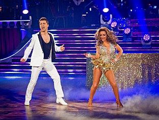 Pasha Kovalev performing on Strictly Come Dancing with celebrity partner Chelsea Healey