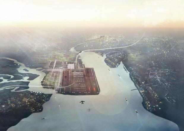 News Shopper: Lord Foster's plans for a Thames airport. Picture by Foster and Partners