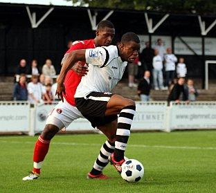 Hakeem Araba scored twice at Weston. PICTURE BY EDMUND BOYDEN.