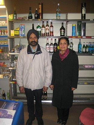 Mohan and Kuldip Plaha at the Telemann Square shop
