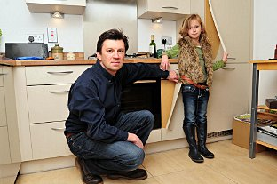 News Shopper: Keith Perry with his daughter Eloise at Eileen Perry's home