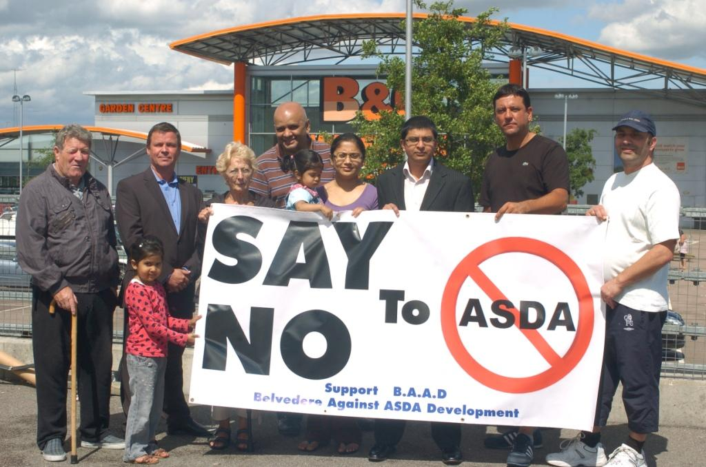 BAAD campaigner Amit Patel (third from right) was told to tell councillors a