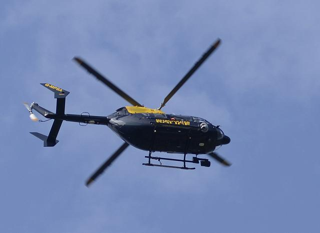 Beckenham man shines laser pen at police helicopter