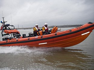 Gravesend lifeboat was called to Erith after a body was found on the shoreline; Picture by RNLI