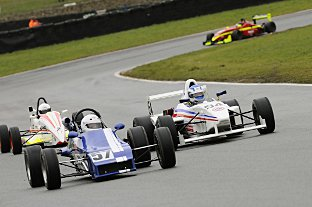 Single seaters demonstration laps on track