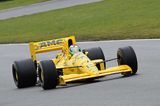 Steve Griffiths driving his 1989 Lotus 101 Grand Prix car that will appear at the Lotus Festival in August