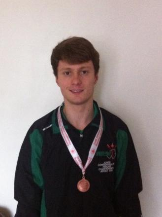 Niall Dowse with his bronze medal