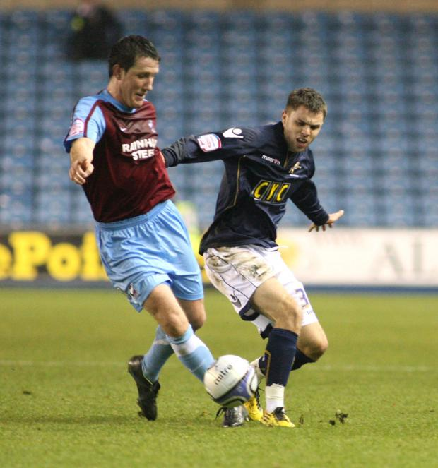 Josh McQuoid in action for Millwall last season. PICTURE BY EDMUND BOYDEN.