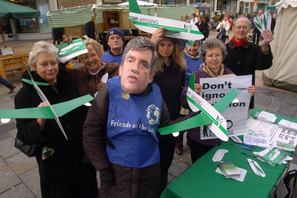 News Shopper: Bromley FoE members showed their support for the climate change bill in April 2008