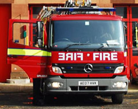 Biggin Hill firefighters doused a burning car last night