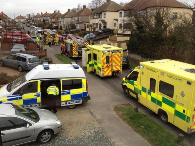 Emergency services in Manse Way, on March 7.