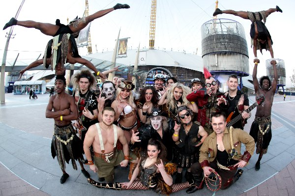 Sword swallowing, fire eating fun with Circus of Horrors