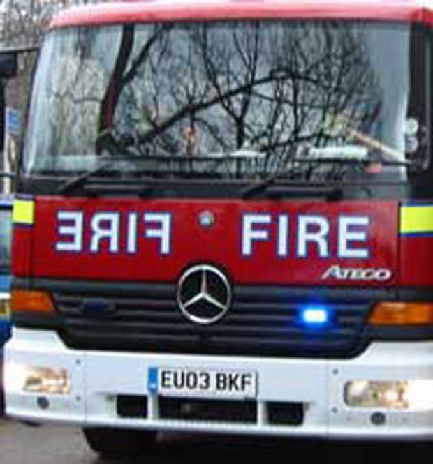 Fire crews were called to a suspected arson attack in Hextable on Thursday.