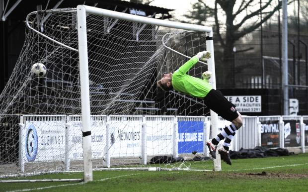 Bromley keeper Joe Welch. PICTURE BY ALAN STANFORD.