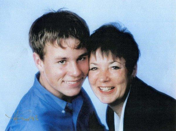 Glennys Jones pictured with her son David