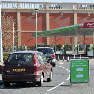 The petrol station at ASDA in Trafford Park, Manchester, was also closed after it ran out of fuel