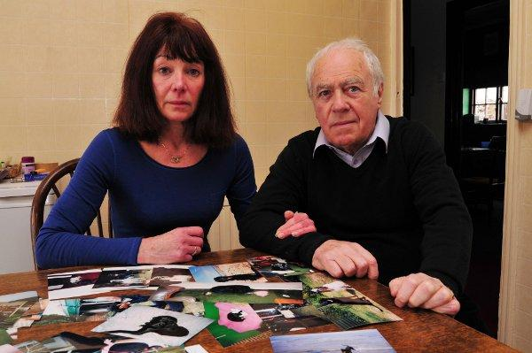 Sue and Robin McGibbon have been left heartbroken by the death of their dog Abby