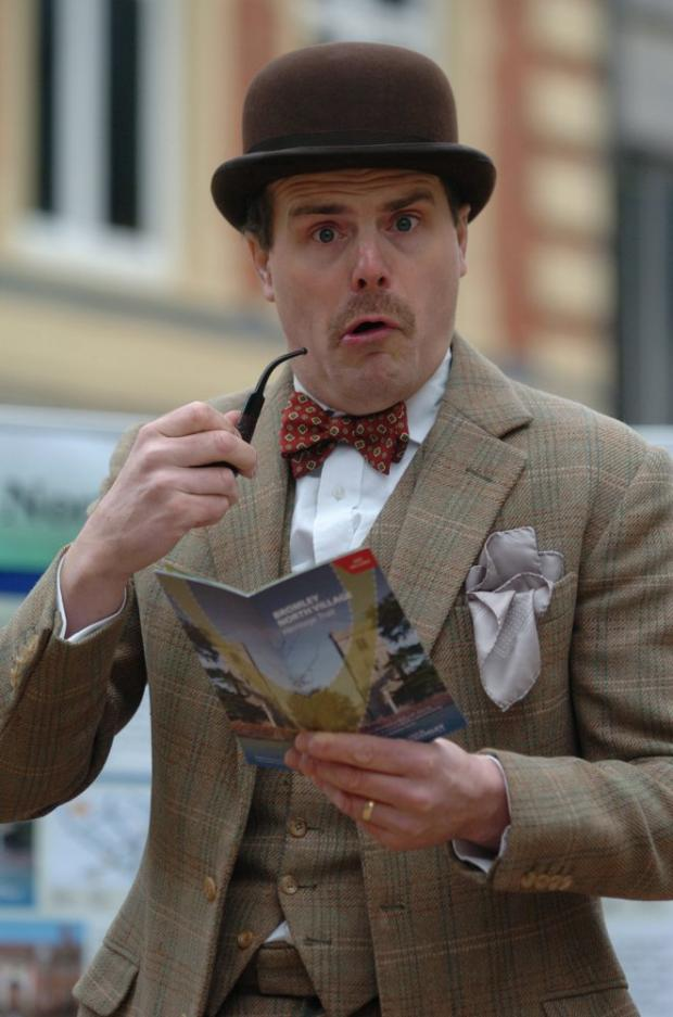News Shopper: Simon Spencer-Hyde played the part of H.G Wells at the launch