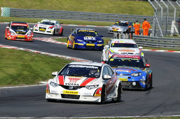 News Shopper: Race two victor Matt Neal leads other race winners Plato and Rob Collard