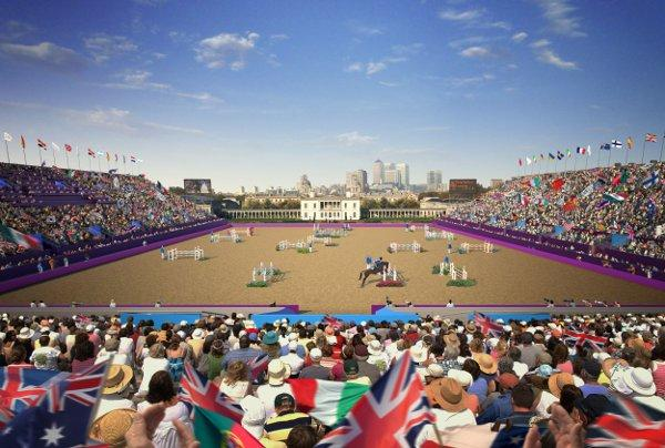 An artist's impression of the equestrian events at Greenwich Park