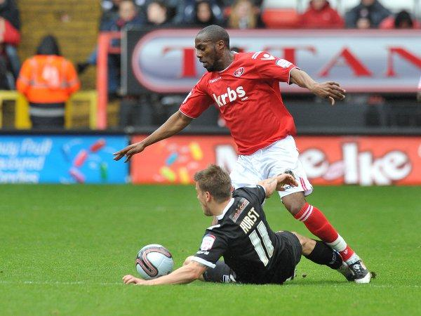 Dany N'Guessan in action for Charlton last season. KEITH GILLARD.