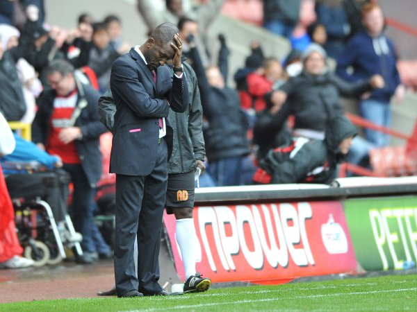 News Shopper: There were some anxious moments for Chris Powell on the touchline yesterday