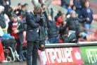 There were some anxious moments for Chris Powell on the touchline yesterday