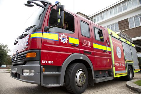 Firefighters put out flaming Ford Fiesta in St Paul's Cray