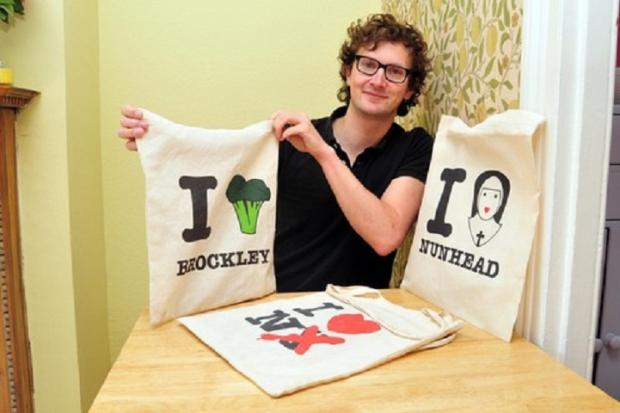 Creative Brockley man's broccoli bags prove a global fashion hit