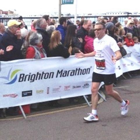 Keith Parkinson raised £10,000 at the Brighton Marathon for the Ben Daniels Memorial Fund