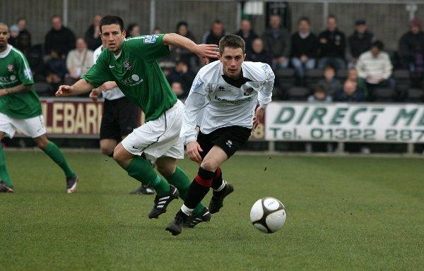 Lee Noble (above) scored the only goal of a tight encounter