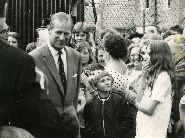 The Duke of Edinburgh pictured back in 1971 when he opened the youth club's sports hall