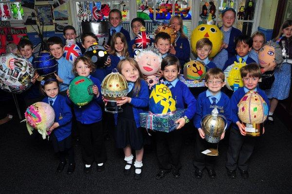 Children create Faberge eggs fit for the Queen