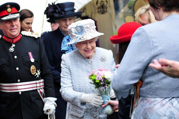 The Queen arriving in Bromley this morning