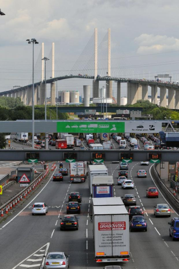 The east bore of the Dartford Tunnel was closed at 8:10am.